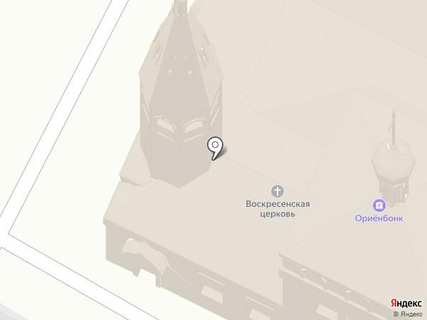 Храм Воскресения Христова на карте Чебоксар