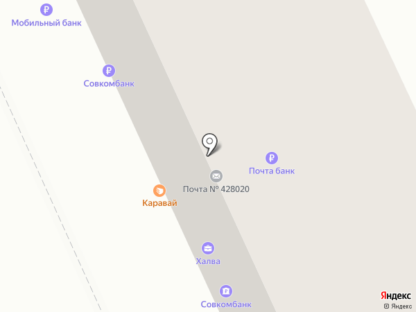Каравай на карте Чебоксар