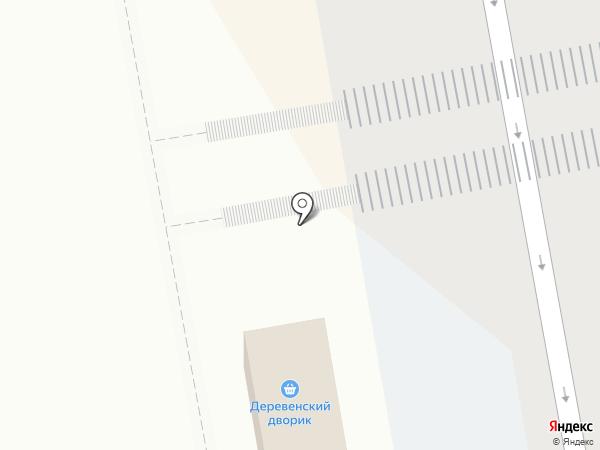 Деревенский дворик на карте Чебоксар