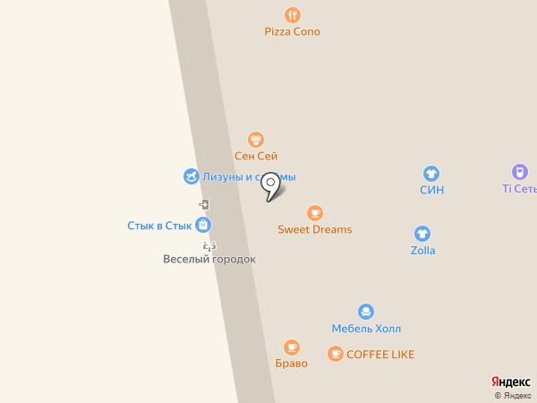 Браво на карте Чебоксар