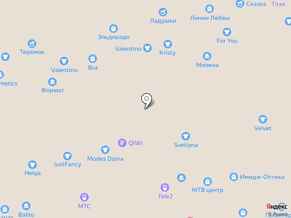 Царство диванов на карте Чебоксар