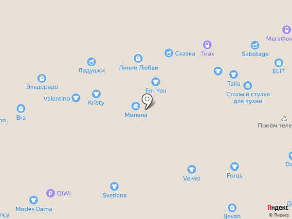 Магазин женских головных уборов на карте Чебоксар