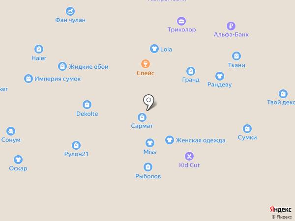 Магазин рыболовных снастей на карте Чебоксар