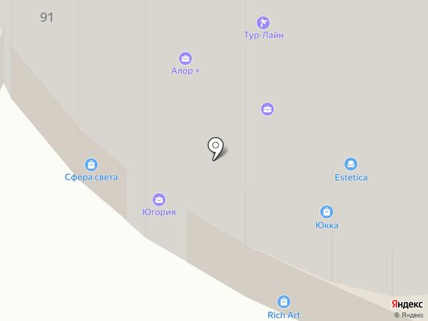 Тур-Лайн на карте Чебоксар