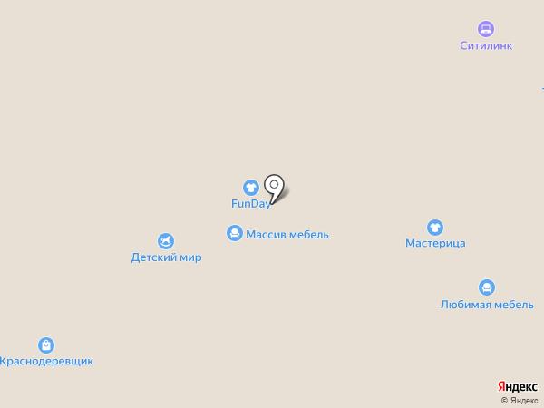 Любимая Мебель на карте Чебоксар