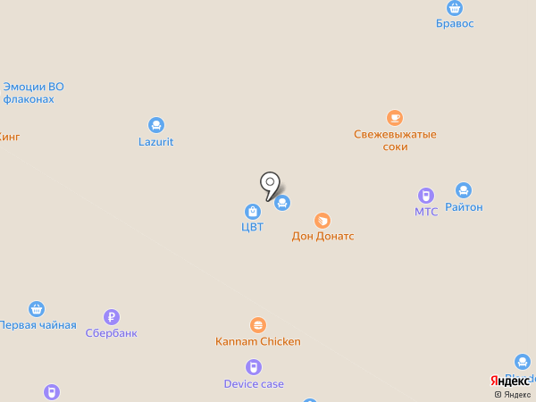 Райтон на карте Чебоксар