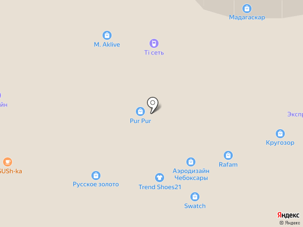 Магазин ранцы и головные уборы на карте Чебоксар