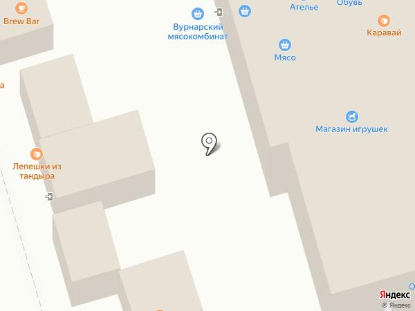 Калач на карте Чебоксар