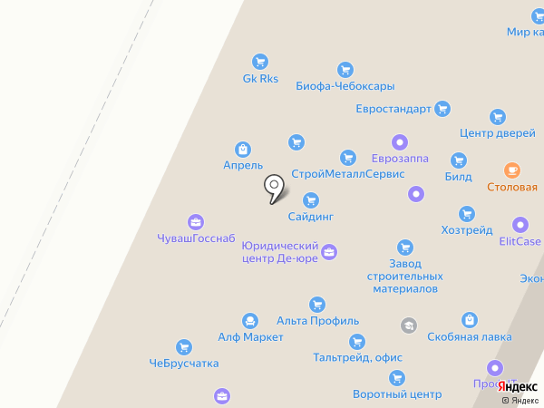 Дизайн-Альппром на карте Чебоксар