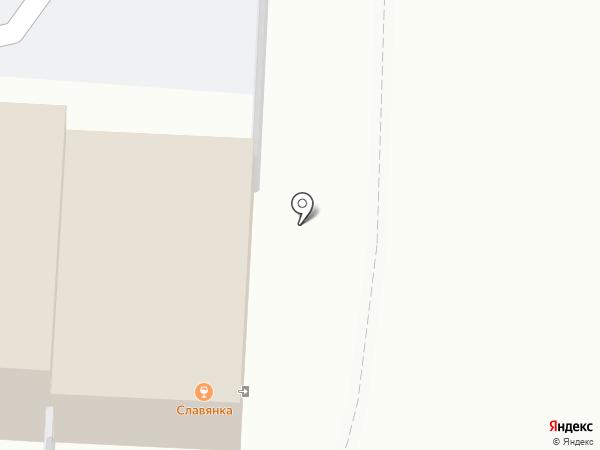 Славянка на карте Чебоксар