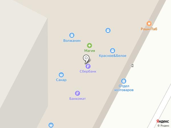 Журавушка на карте Новочебоксарска