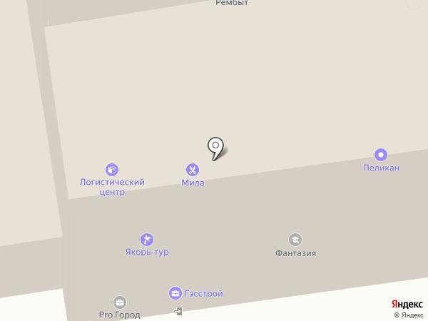 Пеликан на карте Новочебоксарска