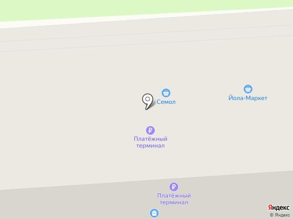 Магазин детских игрушек на карте Йошкар-Олы