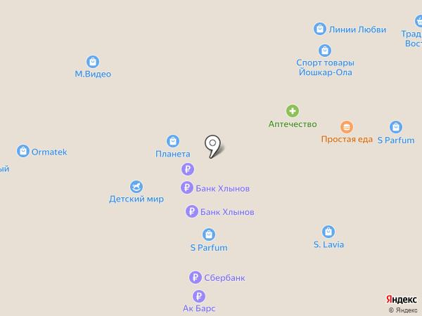 Банкомат, Татфондбанк, ПАО на карте Йошкар-Олы