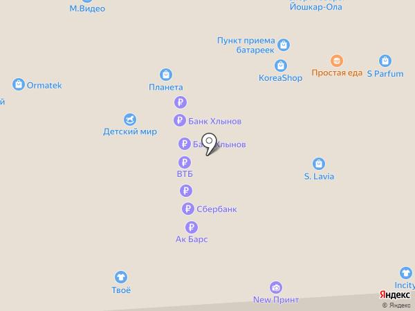 Банкомат, Ханты-Мансийский банк Открытие, ПАО на карте Йошкар-Олы