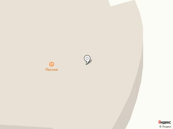 Лесное на карте Йошкар-Олы