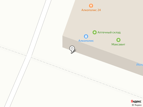 Магазин мясной продукциии на карте Йошкар-Олы