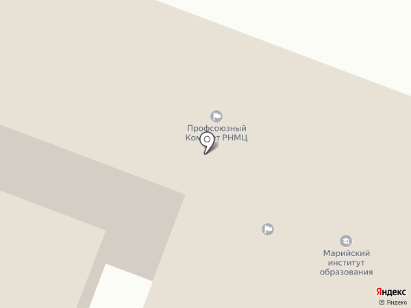 Республиканский научно-методический центр народного творчества и культурно-досуговой деятельности на карте Йошкар-Олы