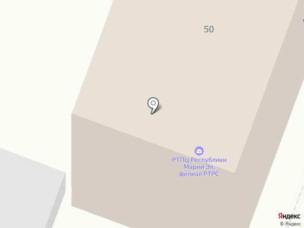 Радиотелевизионный передающий центр Республики Марий Эл на карте Йошкар-Олы