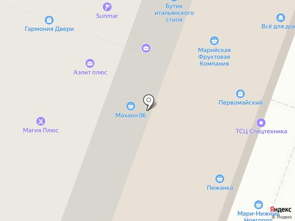 Лодки Поволжья на карте Йошкар-Олы