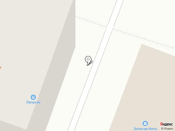 Золотая нить на карте Йошкар-Олы