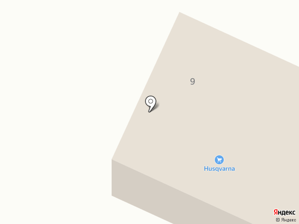 Хускварна на карте Йошкар-Олы