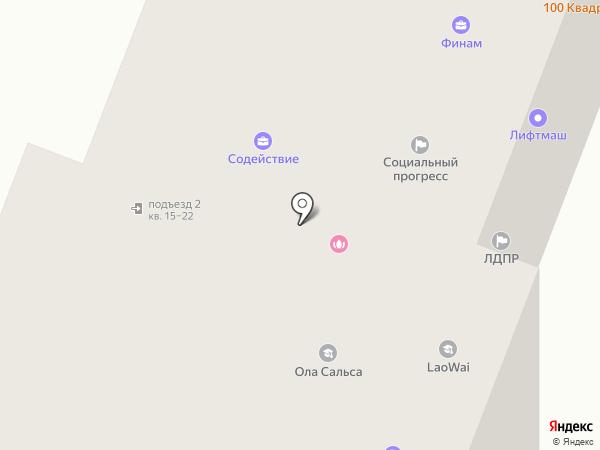 Бурый мишка на карте Йошкар-Олы