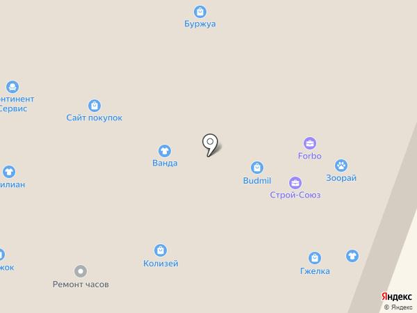 Красотка на карте Йошкар-Олы