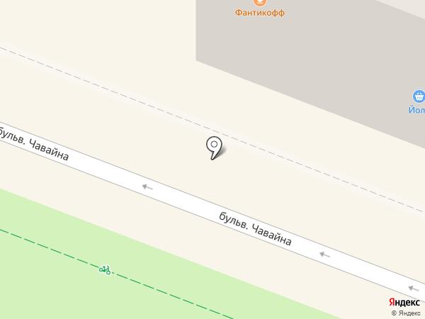 Пивоваръ на карте Йошкар-Олы