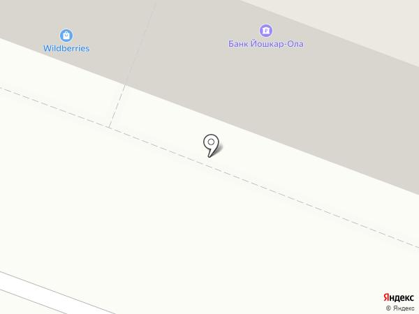 Травертина на карте Йошкар-Олы