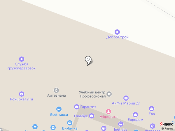 Антикор Строй Групп на карте Йошкар-Олы