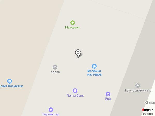 Эврика на карте Йошкар-Олы
