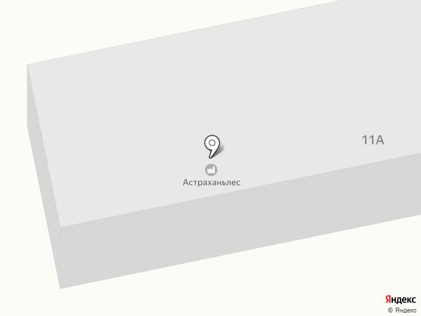Астраханьлес на карте Солянки