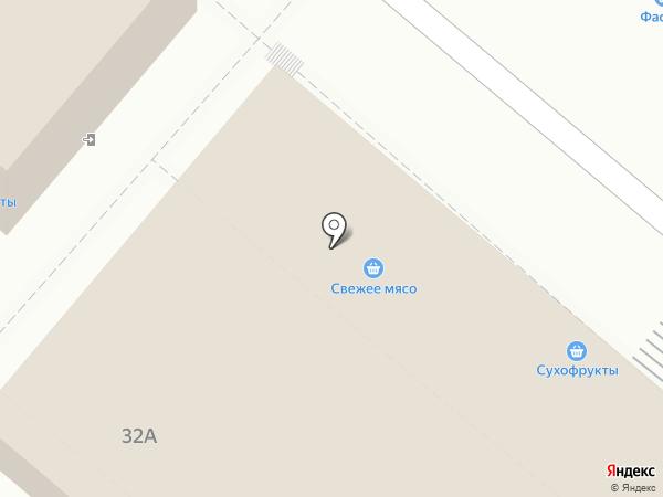 Магазин по продаже мяса на карте Астрахани
