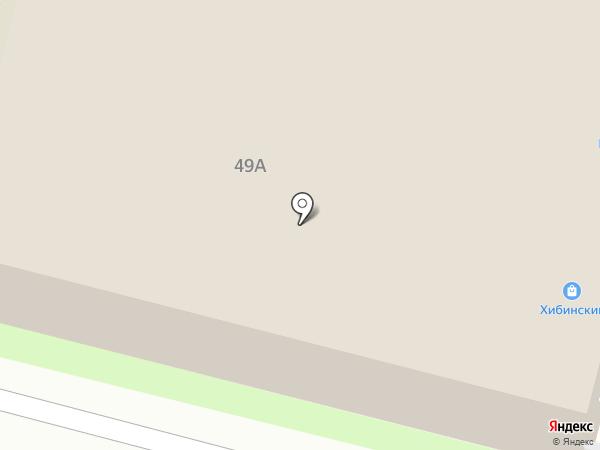 Хибинский на карте Астрахани