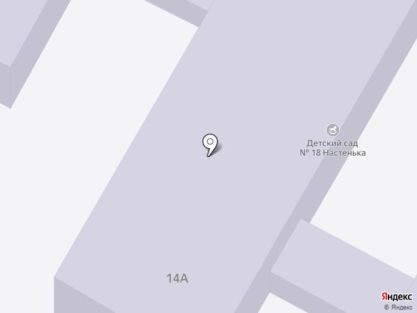 Детский сад №18 на карте Астрахани