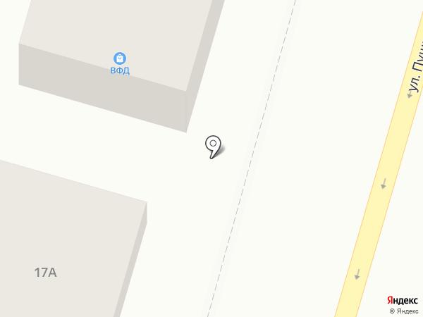 ВФД на карте Астрахани