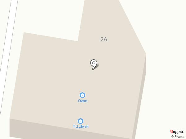 Юбилейный на карте Пригородного