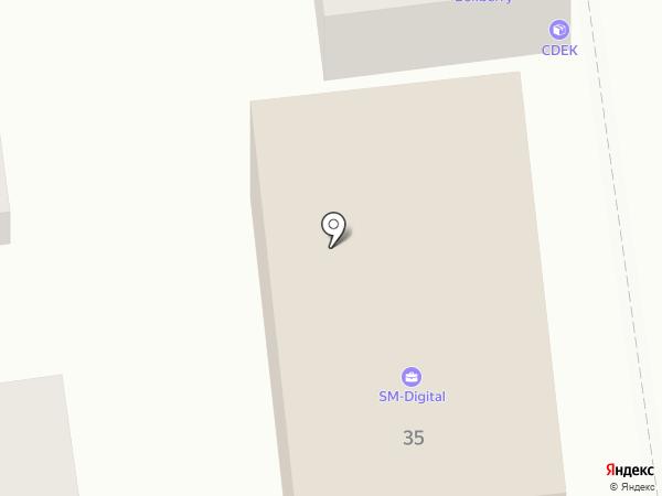 Страж на карте Астрахани