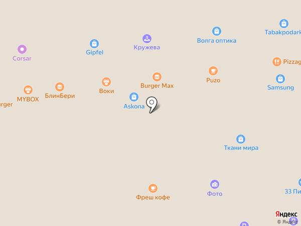 Воки на карте Астрахани