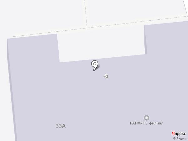 Российская академия народного хозяйства и государственной службы при Президенте РФ на карте Астрахани