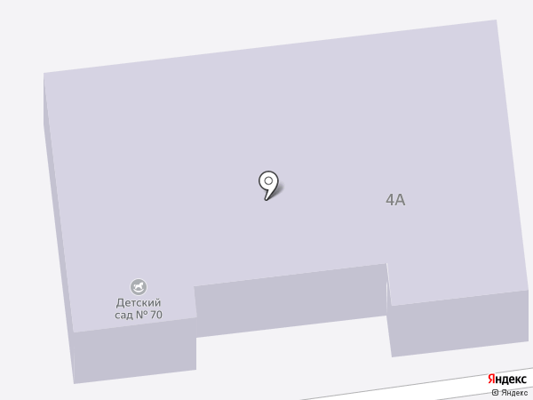 Детский сад №70 на карте Астрахани