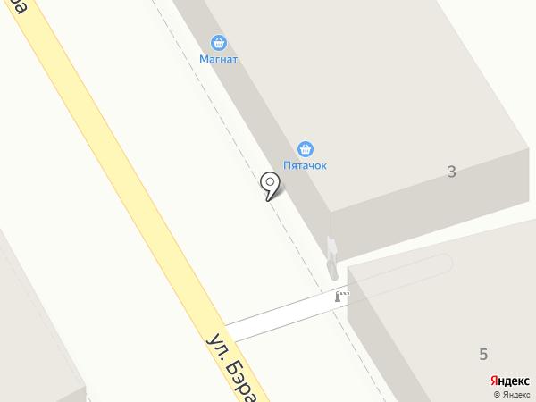 Червонец на карте Астрахани