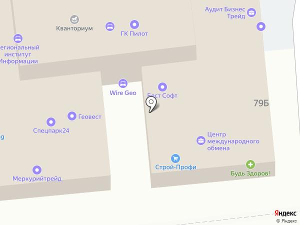 Результат на карте Астрахани