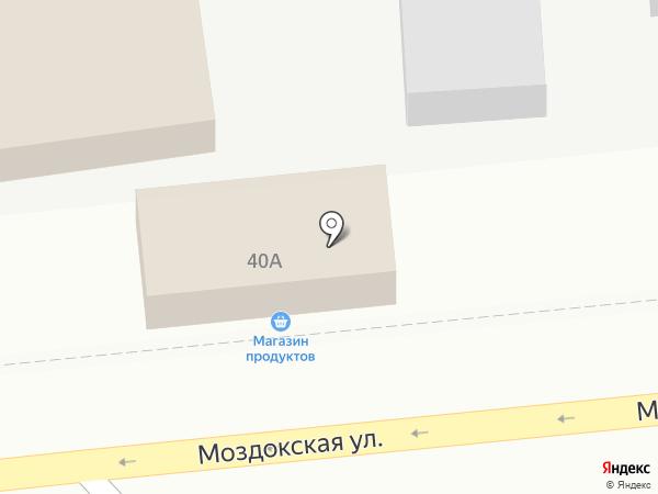 Продовольственный магазин на Моздокской на карте Астрахани