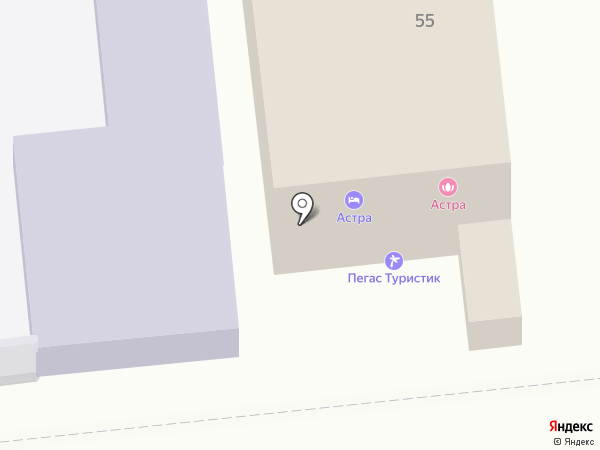 Астра-Тур на карте Астрахани