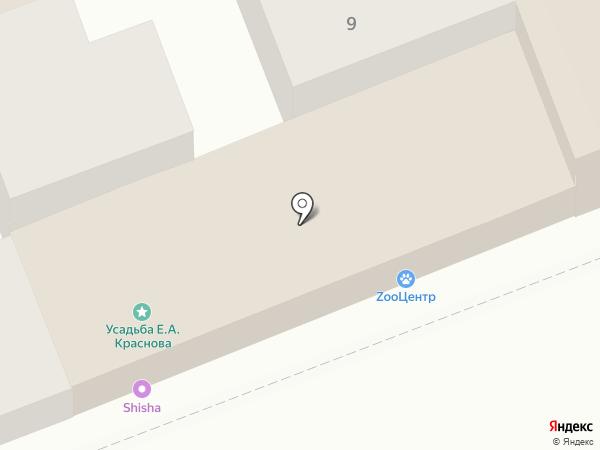Шантель на карте Астрахани