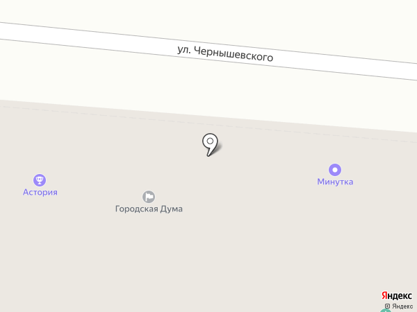 Город Астрахань на карте Астрахани