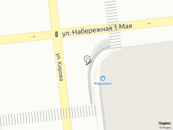 Кардамонъ на карте Астрахани