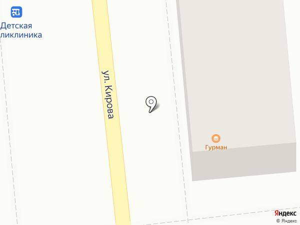 Шафран на карте Астрахани